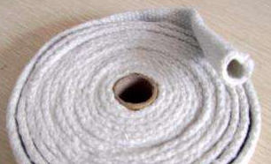 HP07CS Ceramic Fiber Braided Woven Sleeves With Fiberglass Filament And Steel Wire Reinforcement