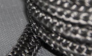 Knitted Rope+Core+Graphite Coating--HP02TEKCG Fiberglass Knitted Wood Stove Door Gasket Rope With Core And Graphite Coating