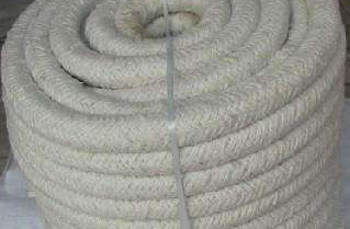 HPB02S Biosoluble Fiber Braided Round Insulation Ropes+Steel Wire&Fiberglass Filament Reinforcement